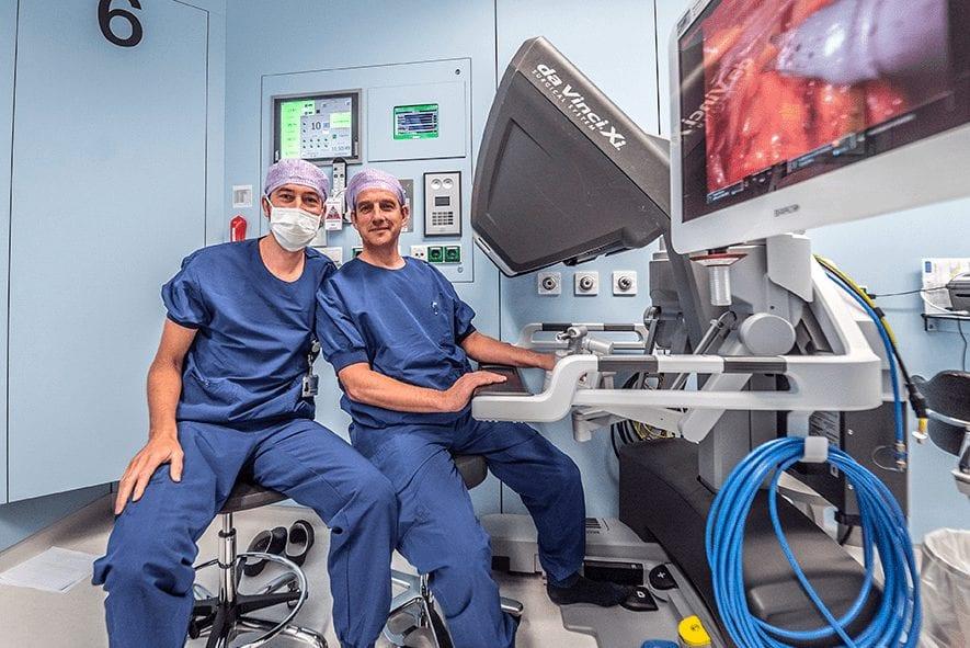 Urologen Jasper Tijsterman en John van der Hoeven.